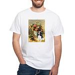Flowers & Tri Cavalier White T-Shirt