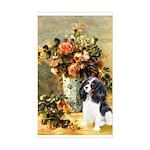 Flowers & Tri Cavalier Sticker (Rectangle)