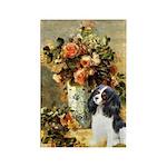 Flowers & Tri Cavalier Rectangle Magnet