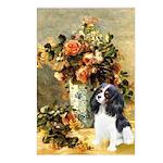 Flowers & Tri Cavalier Postcards (Package of 8)
