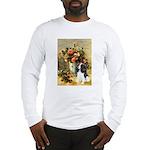 Flowers & Tri Cavalier Long Sleeve T-Shirt