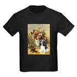 Flowers & Tri Cavalier Kids Dark T-Shirt