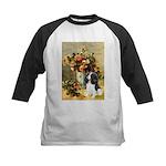 Flowers & Tri Cavalier Kids Baseball Jersey