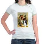 Flowers & Tri Cavalier Jr. Ringer T-Shirt