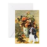 Flowers & Tri Cavalier Greeting Cards (Pk of 10)
