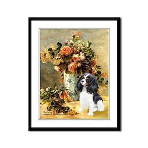 Flowers & Tri Cavalier Framed Panel Print