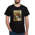 Flowers & Tri Cavalier Dark T-Shirt