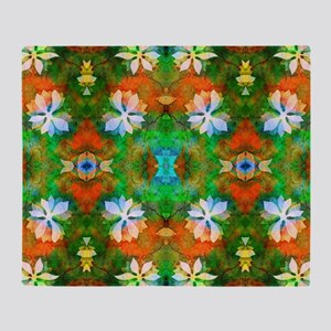 Flower pattern 1 Throw Blanket