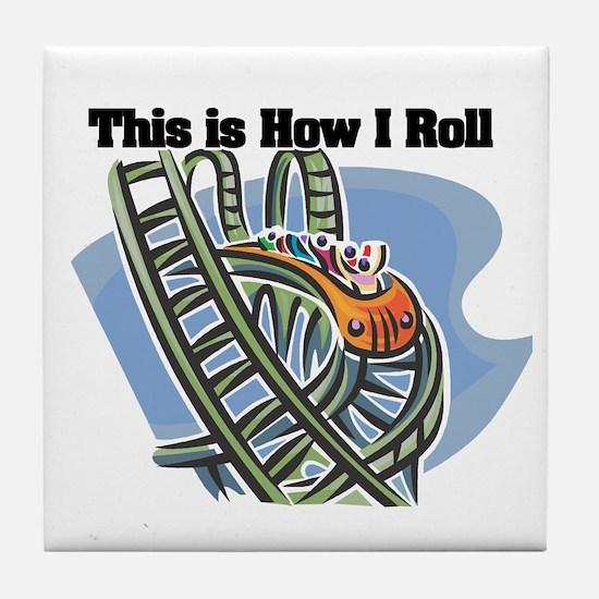 How I Roll (Roller Coaster) Tile Coaster
