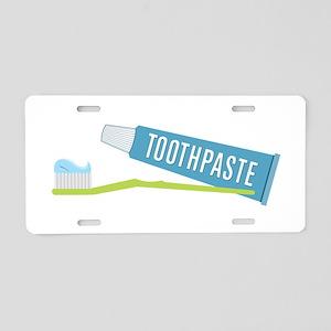 Toothpaste Brush Aluminum License Plate