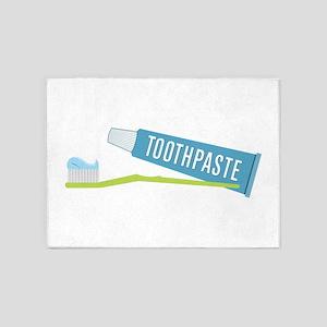 Toothpaste Brush 5'x7'Area Rug