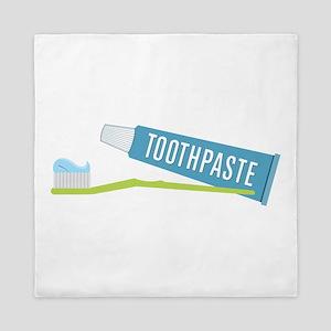 Toothpaste Brush Queen Duvet