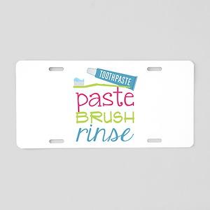 Paste Brush Rinse Aluminum License Plate