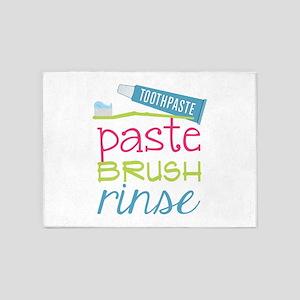 Paste Brush Rinse 5'x7'Area Rug