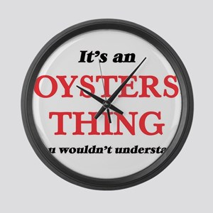 It's an Oysters thing, you wo Large Wall Clock