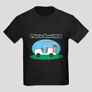 How I Roll (Golf Cart) Kids Dark T-Shirt