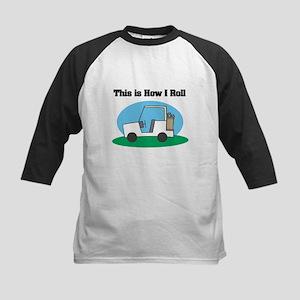 How I Roll (Golf Cart) Kids Baseball Jersey