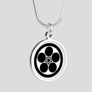 Umebachi-style plum blossom Silver Round Necklace