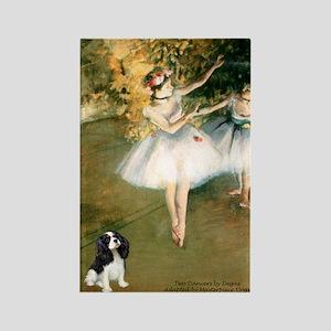 2 Dancers & Tri Cavalier Rectangle Magnet