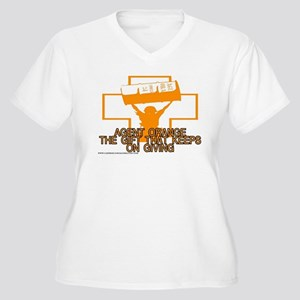 AGENT ORANGE THE GIFT Women's Plus Size V-Neck T-S