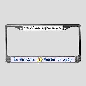 Be Humane Spay & Neuter License Plate Frame