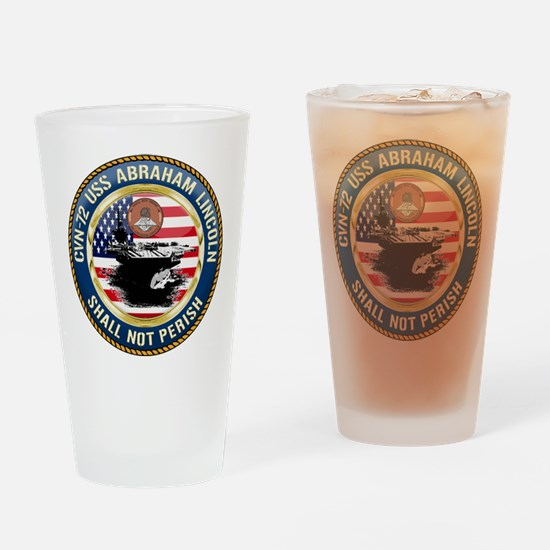 CVN-72 USS Abraham Lincoln Drinking Glass
