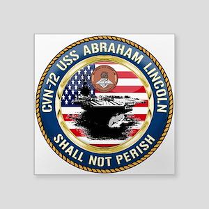 """CVN-72 USS Abraham Lincoln Square Sticker 3"""" x 3"""""""