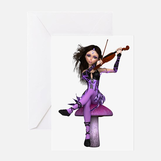 Amethyst Fairy and Violin Greeting Card