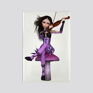 Amethyst Fairy and Violin Rectangle Magnet
