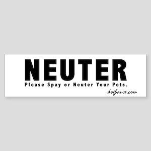 B&W Neuter Spay & Neuter Bumper Sticker