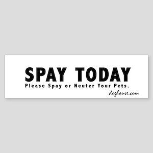 B&W Spay Spay & Neuter Bumper Sticker
