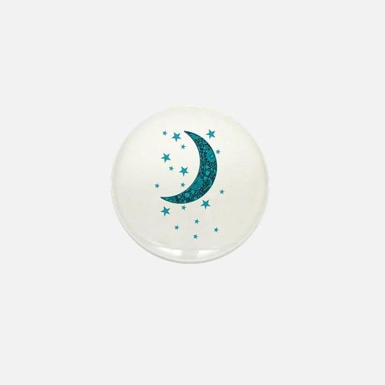 Unique Moon and stars Mini Button