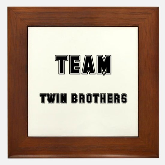 TEAM TWIN BROTHERS Framed Tile