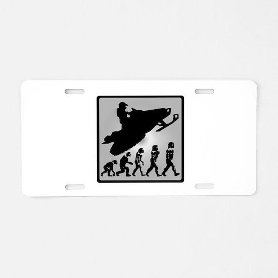 EVOLVE RIDERS Aluminum License Plate