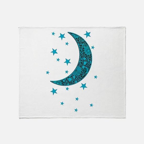 Cute Cyan Throw Blanket