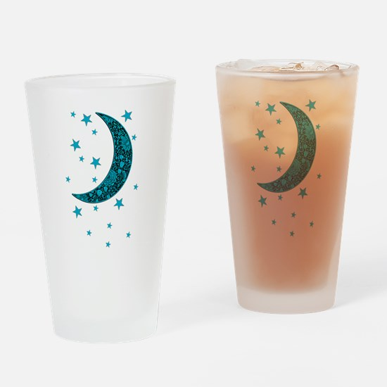 Unique Cyan Drinking Glass