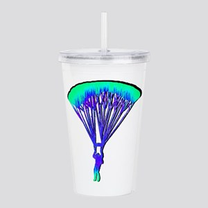 COLORFUL WAVES Acrylic Double-wall Tumbler