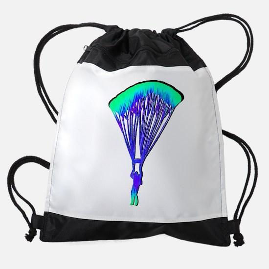 COLORFUL WAVES Drawstring Bag