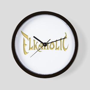 Elkaholic T-shirts and gifts Wall Clock