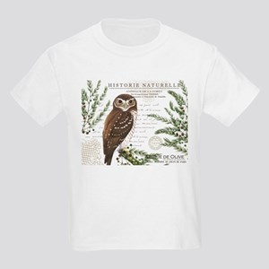 modern vintage French winter woodland owl T-Shirt