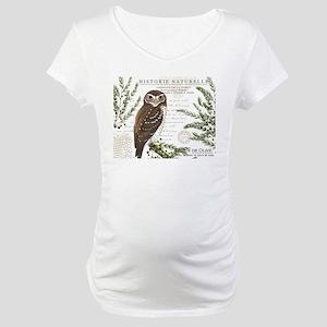 modern vintage French winter woodland owl Maternit