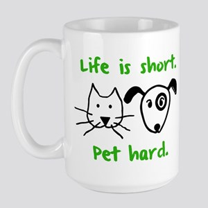 Pet Hard (Pets) Large Mug