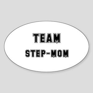 TEAM STEP-MOM Oval Sticker