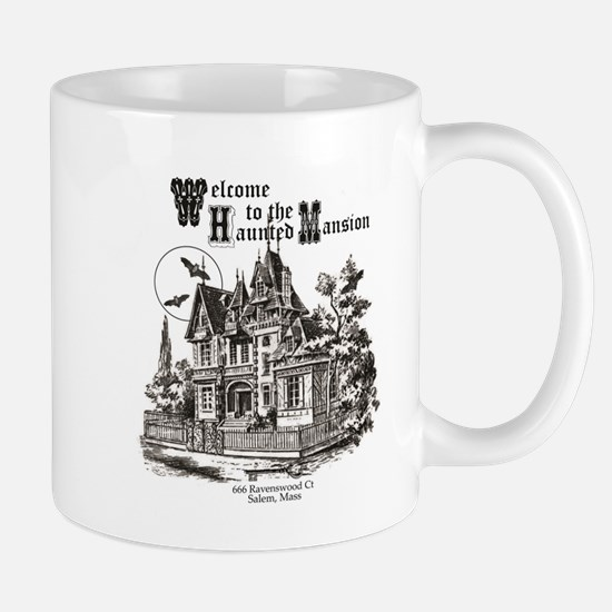 vintage Halloween haunted house Mugs