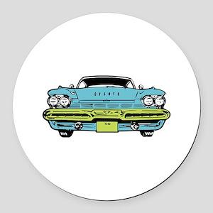 American Classic Round Car Magnet