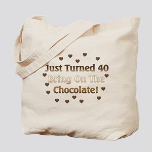 40th Birthday Means Chocolate Tote Bag