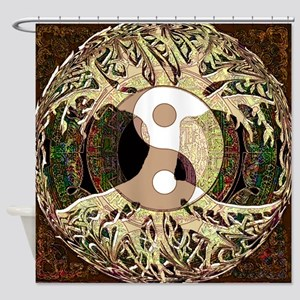 Yin Yang Mandala Shower Curtain