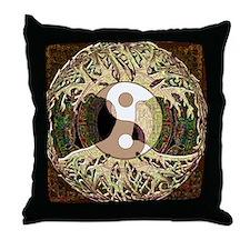Yin Yang Mandala Throw Pillow