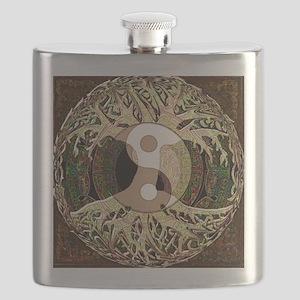 Yin Yang Mandala Flask