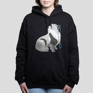 Keeshond Leash Women's Hooded Sweatshirt